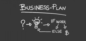 Drawing of a Business Plan