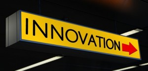 Yellow innovation sign