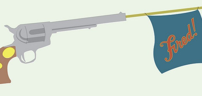 Gun fired flag