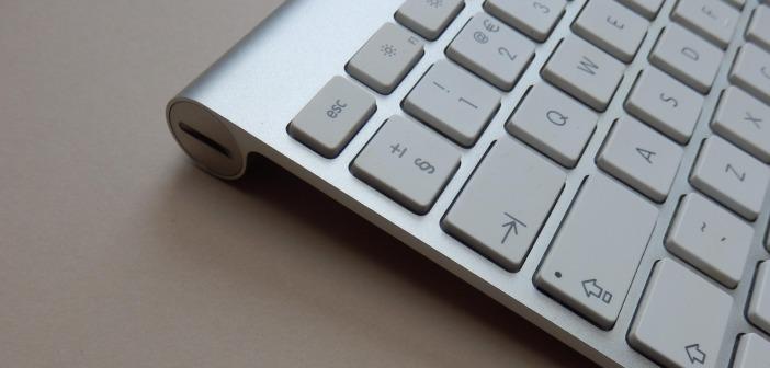 Grey keyboard table