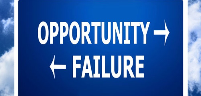 Opportunity failure blue background