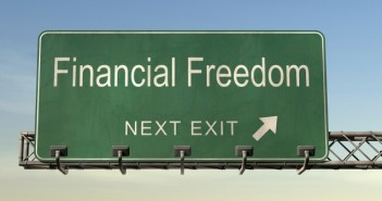Financial freedom traffic sign