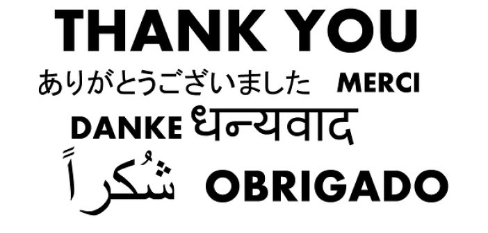 Thank you in 7 languages