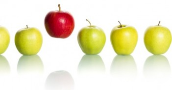 Green apples red apple