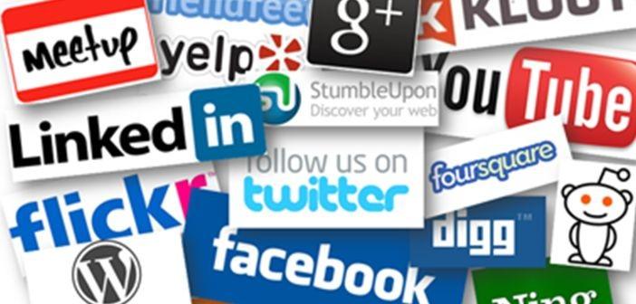 Social media platforms logos