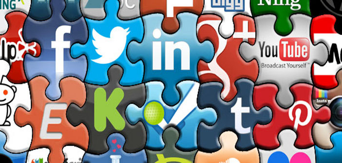 Puzzle comprised of social media and online marketing platforms