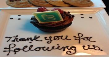 Twitter Cupcake showing appreciation