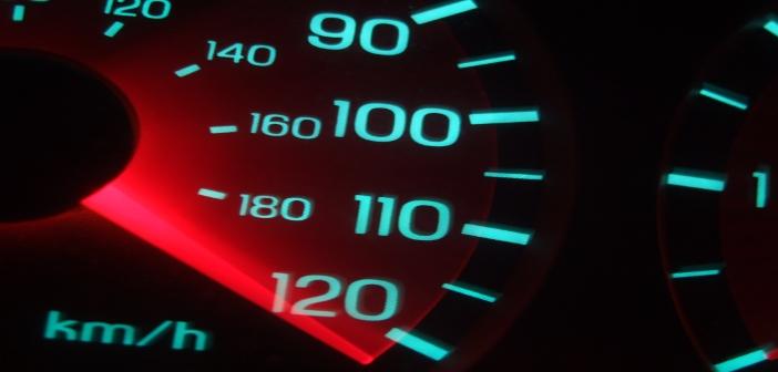 Neon blue black speed meter