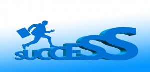 success, career ladder businessperson briefcase