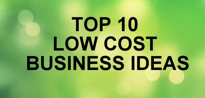 Top  Low Cost Business Ideas