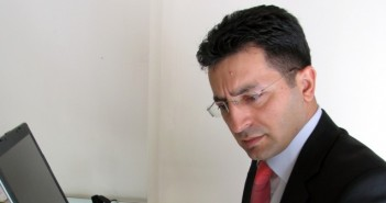 Image of a businessman contemplating