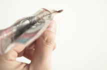 Paper airplane made out of money
