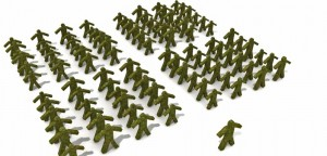 Army formation green soldiers