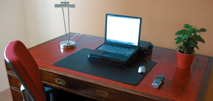 Computer desk plant chair