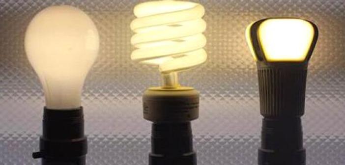 3 lit light bulbs