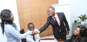 business people closing a deal