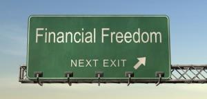 Financial freedom traffic sign