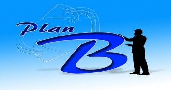 plan b black silhouette blue background