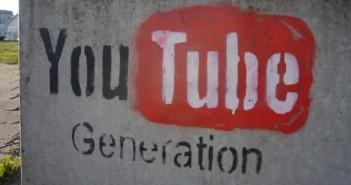Youtube logo on a wall