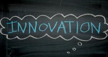 Innovation cloud black background