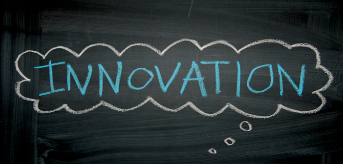 Innovation cloud black background