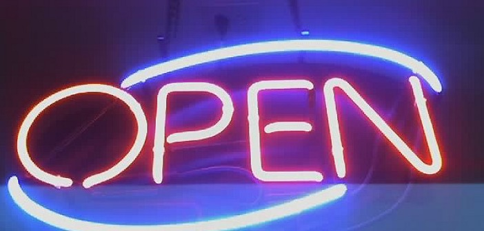 Open sign LEDs