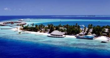 Island resort blue water