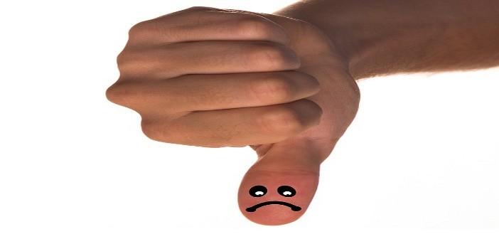Thumbs down sad face