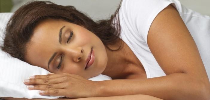 Woman sleeping pillow