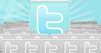 Twitter icons blue background