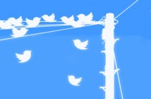 Twitter birds on a pole