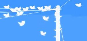 Twitter birds on a pole